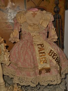 ~~~ Marvelous French Bebe Costume with Bonnet ~~~ from whendreamscometrue on Ruby Lane