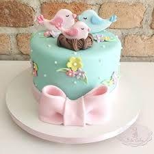 Resultado de imagen para bolo decorado passarinho