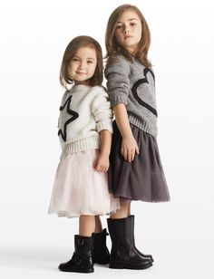 Joe Fresh Kids tulle skirt and adorable sweaters.
