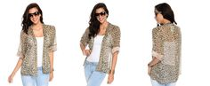 All The Cheetah Print I Need Chiffon Kimono Brown