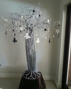 African Christmas Tree Wire Baobab Holiday Decor