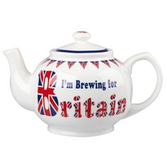 IM BREWING FOR BRITAIN TEAPOT | PastTimes.com | #British #Teapot