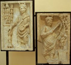 Relief of Priest sacrificing to Cybele. Relief of Priest sacrificing to Attis, terracotta, 3rd century CE, Museo Ostiense, Ostia, Italy.