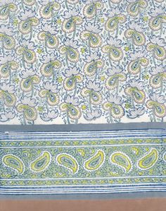 Anokhi USA: Paisley Lotus cotton scarf