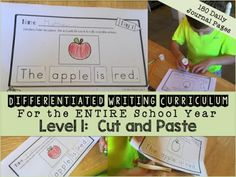 differentiated writing curriculum for students with special needs and autism. daily journal writing prompts for the year