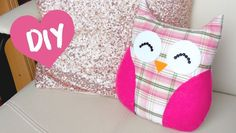 how to make a owl pillow diy Diy Throw Pillows, How To Make Pillows, Diy Simple, Easy Diy, Owl Patterns, Sewing Patterns, Knitting Patterns, Owl Fabric, Fabric Scraps