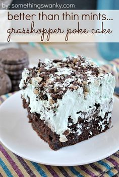 Better Than Thin Mints... Grasshopper Poke Cake