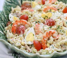 Shrimp Louie Macaroni Salad Shrimp Louie Macaroni Salad - Wives with Knives Shrimp Macaroni Salad, Seafood Salad, Seafood Pasta, Pasta Salad, Crab Salad, Pasta Food, Potato Salad, Fish Recipes, Seafood Recipes