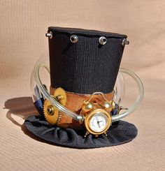 Tiny Top Hat Steampunk Time Machine