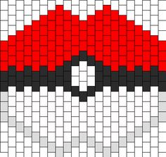 Large Pokeball Mask Bead Pattern | Peyote Bead Patterns | Characters Bead Patterns