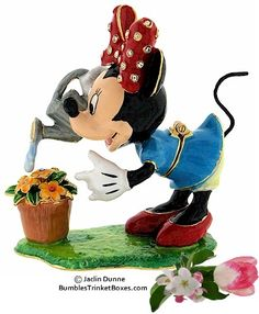 Trinket Box: Disney- Minnie Mouse Watering Flowers