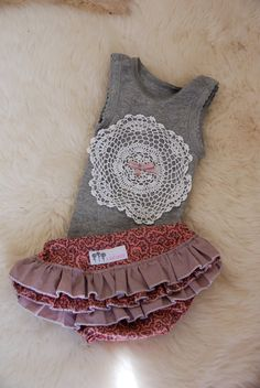 Baby Ruffle Diaper Cover Set by LiliCoco on Etsy, $30.00