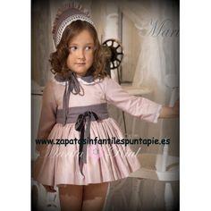 54aaafa4 Exclusivo vestido de vuelo Marita Rial, mod. Verano Estampado floral en  amarillo, azul y rosa. !Compra ya online en Zapatos Infantiles PuntaPié!