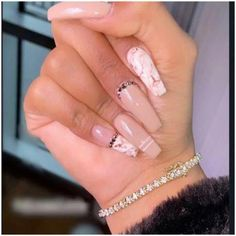 In look for some nail designs and some ideas for your nails? Here is our list of must-try coffin acrylic nails for fashionable women. Aycrlic Nails, Dope Nails, Bling Nails, Coffin Nails, Funky Nails, Short Nail Designs, Nail Art Designs, Nails Design, Gel Nails At Home