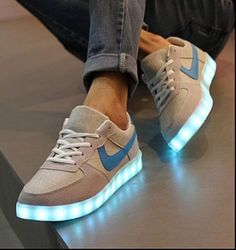 Unisex LED Light Lace Up Luminous Board Shoes Sneaker Luminous Casual Shoes #Unbranded #AthleticSneakers
