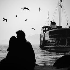 infinity love photography black and white birds by gonulk on Etsy, $50.00