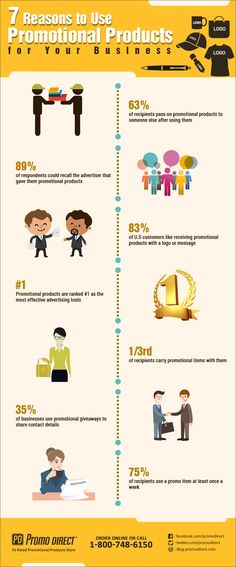 7 Reasons to Use Promotional Products for Your Business #infographic