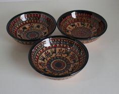 Hititte Design Hand Made Ceramic Bowl Set  Triple Set by ChezGalip