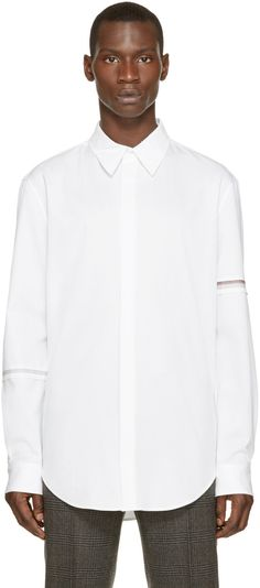3.1 Phillip Lim White Embroidered Shirt