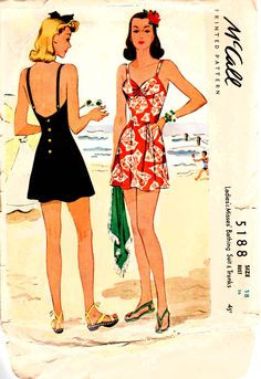 1940s bathing suit - mccalls sewing pattern