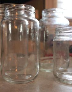 The No Sweat, Chemical-Free way to Remove Labels and Glue Residue from Your Jars/ equal parts baking soda & oil on the warmed jar Cleaning Recipes, Diy Cleaning Products, Cleaning Solutions, Cleaning Hacks, Homemade Products, Bottles And Jars, Glass Jars, Mason Jars, Remove Jar Labels