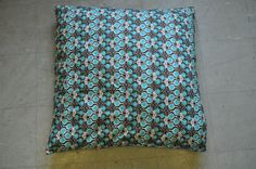Black & Blue Multi Print Cotton Luxury Dog Bed/Pillow 1mx1m