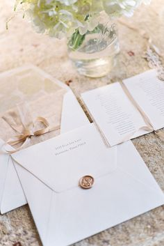 Small Wedding Details How To Use A Wax Seal