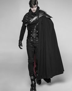 Gothic Male Langer Dracule-Umhang mit markantem Stehkragen Get Growth From Your Plants Article Body: Gothic Fashion, Mens Fashion, Fashion Fantasy, Fantasy Outfits, Gothic Mode, Character Inspiration, Style Inspiration, Mode Costume, Character Outfits