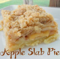Apple Slab Pie- apple pie with a streusel topping that is easily cut into squares for a group