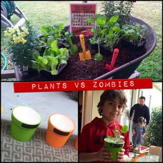 A Garden Warfare Planting Station. Every kid gets to plant and take one home. Plants vs Zombies Birthday Party Activities.