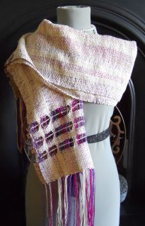 Berry and Linen Handwoven Wrap - Scarves, Wraps & Accessories - The Crafty Cailín