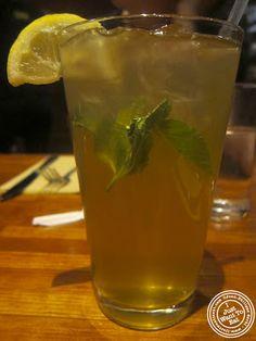 Image of Mint iced tea at Nanoosh Mediterranean Cuisine in Greenwich Village, NYC, New York