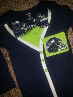 Baby Seattle Seahawks Cardigan Boy or Girl by CoutureCardigans, $29.99
