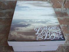 Dream Big Wooden Memory Keepsake Box by EspeciallyMade on Etsy, $25.00