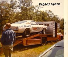 Vintage Drag Racing - Early Tasca Ford Cobra Jet Mustang Fastback, Ford Mustang, Mustang Cobra, Bicicletas Raleigh, Ford Sport, Car Carrier, Old Race Cars, Best Muscle Cars, Ford Classic Cars