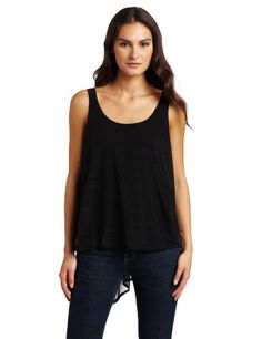BCBGeneration Women's Cape Back Woven Tank  Black  SmallFrom #BCBGeneration Price: $98.00