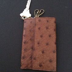 Genuine Ostrich Leather Keyholder Made Austria