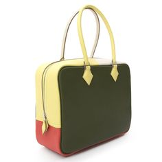 Hermes Arlequin Plume 32 | From a collection of rare vintage tote bags at https://www.1stdibs.com/fashion/handbags-purses-bags/tote-bags/
