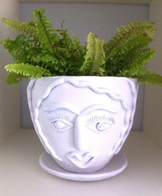 Curly Girl Face Planter by laylaloustudio on Etsy
