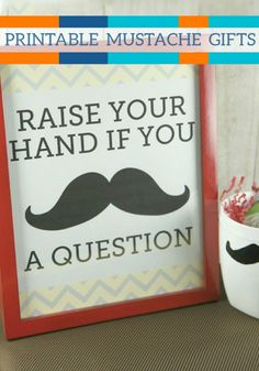 Mustaches are fun to put on everything from glass beer mug for a great guy gift, to a cute little shaving set for your favorite dad, to a fun mug for your best friend.