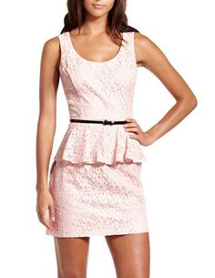 Still trying to decide if peplum is a good style choice for me.Belted Lace Peplum Dress: Charlotte Russe
