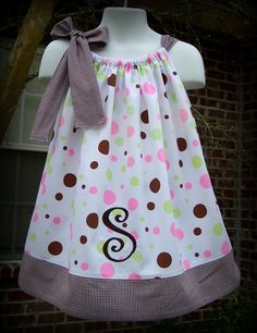 Custom Boutique Clothing Girls Pink and Brown