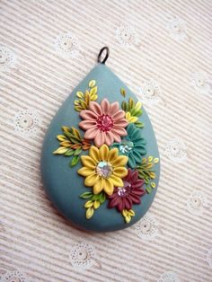 Late summer  Colorful pendant by DandelionJewellery on Etsy, $30.00