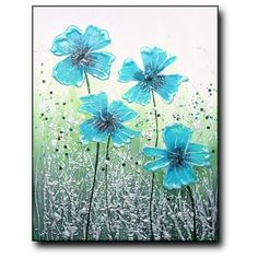 Teal Delight by Amanda Dagg.. Artist Amanda Dagg likes to do uplifting paintings that emit joy.
