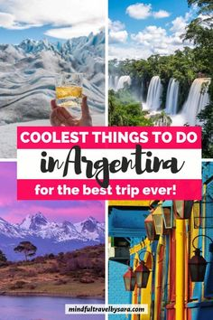 Are you planning a trip to Argentina? Here you have the best places to visit in Argentina for a trip of a lifetime! There are lots of cool things to do in Argentina, from Buenos Aires, Iguazu Falls, Bariloche, Mendoza, the Wine Country, the Andean altiplano to the icy lakes of Patagonia and Perito Moreno. Argentina Travel| Argentina Mendoza | Argentina Travel Tips | Argentina Destinations | Argentina Patagonia | Argentina Itinerary | Argentina Ushuaia #Argentina #ArgentinaTravel #SouthAmerica Honeymoon On A Budget, Honeymoon Places, Best Honeymoon, Honeymoon Destinations, Visit Argentina, Argentina Travel, Travel Blog, Travel Tips, Travel Hacks