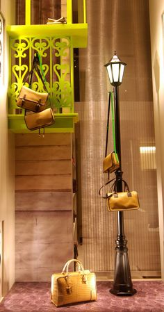 Loewe windows 2012, Paris visual merchandising Visual Merchandising Displays, Visual Display, Retail Windows, Store Windows, Shop Window Displays, Store Displays, Retail Displays, Handbag Display, Boutique Decor