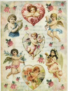 Ricepaper/ Decoupage paper,Scrapbooking Sheets/Craft Paper Vintage Angels in Crafts, Cardmaking & Scrapbooking, Decoupage   eBay
