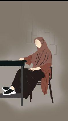Instagram Animation, Cover Wattpad, Hijab Drawing, Cute Doodle Art, Love Cartoon Couple, Islamic Cartoon, Anime Muslim, Hijab Cartoon, Islamic Girl