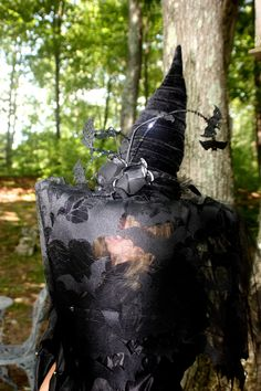 A personal favorite from my Etsy shop https://www.etsy.com/listing/200223581/witch-hat-bats-lace-veil-floating-bats