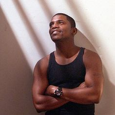 Meki Phifer, Look at those tree trunks he calls arms. Black Actors, Black Celebrities, Hot Actors, Hottest Actors, Gorgeous Black Men, Beautiful Men, Will Smith, Mekhi Phifer, Afro